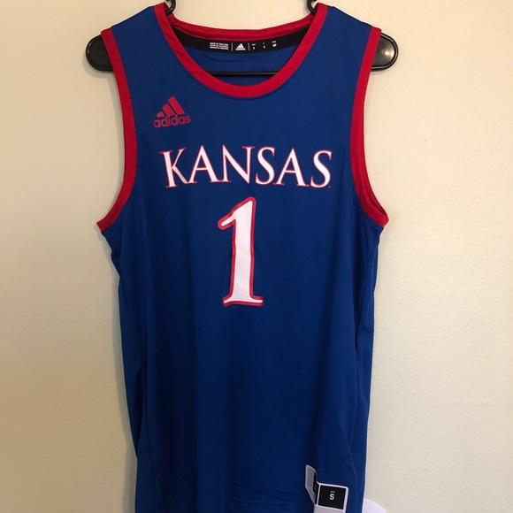 Adidas Kansas Jayhawks #1 KU Basketball Jersey